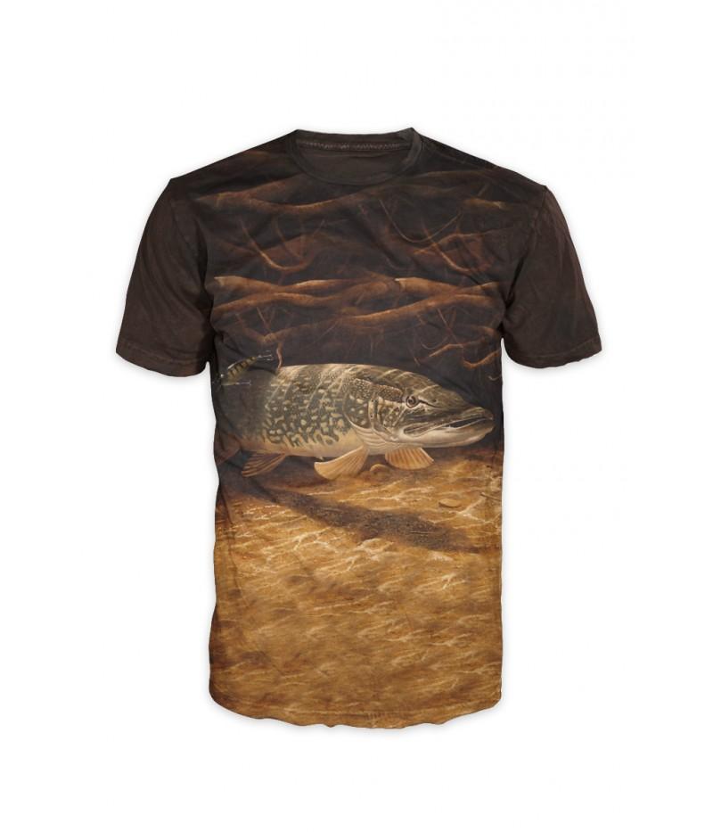 Риболовна тениска ''Щука в коренище''