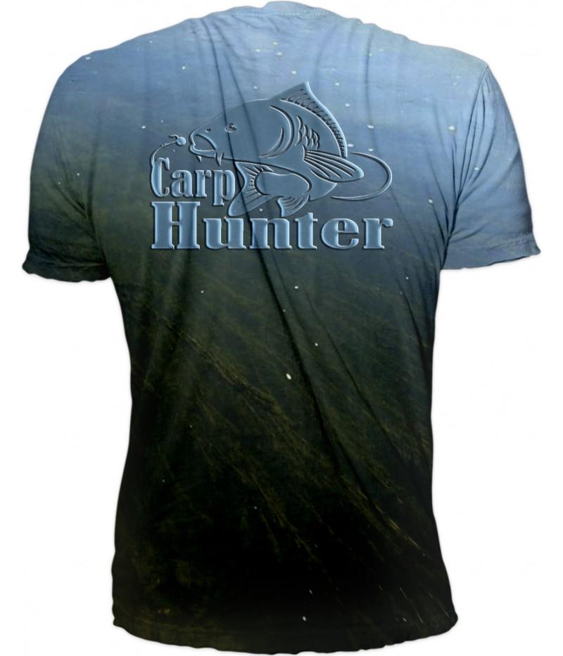 Mъжка тениска -шаран върху водорасли