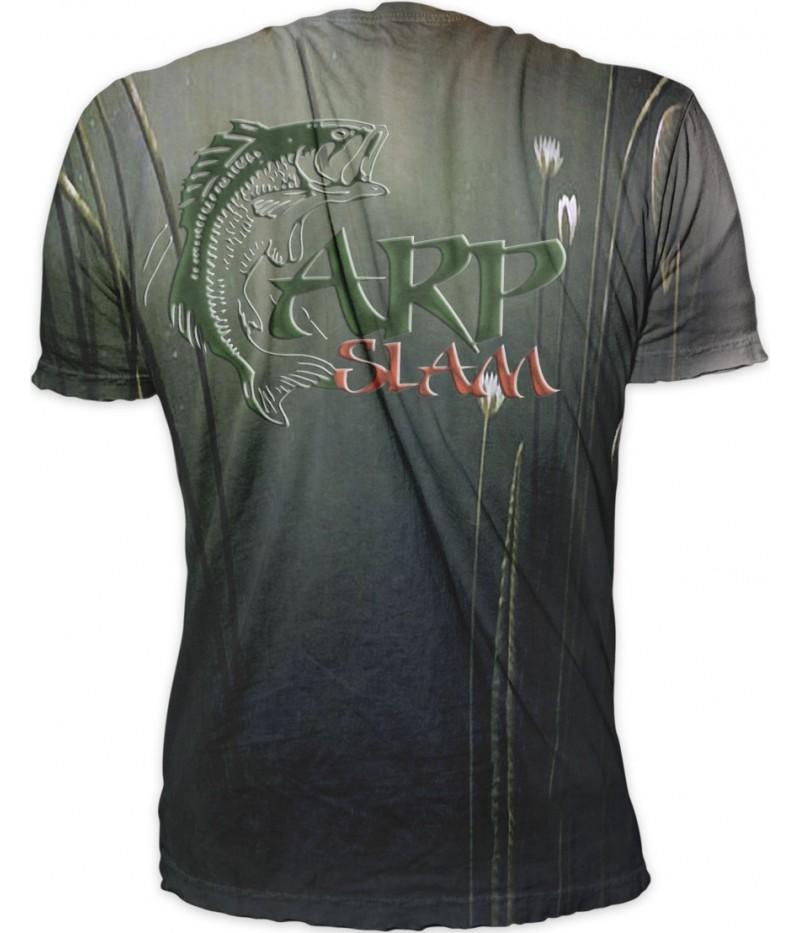 Риболовна тениска '' Шарани с водни цветя''
