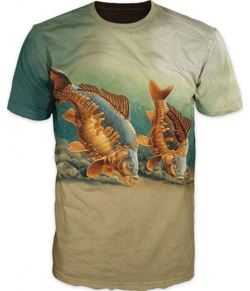 мъжка тениска с шарани