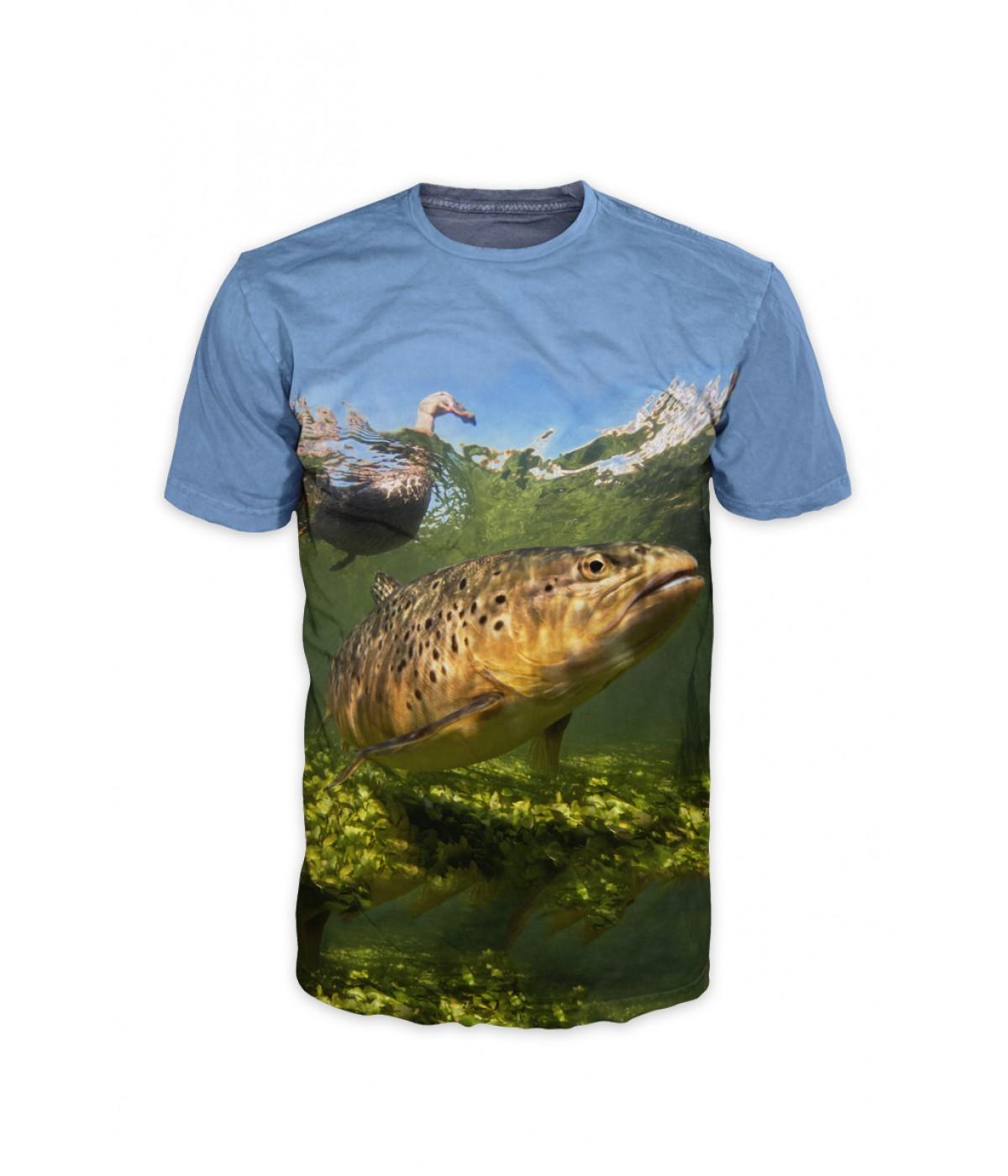 Риболовна тениска с пъстърва