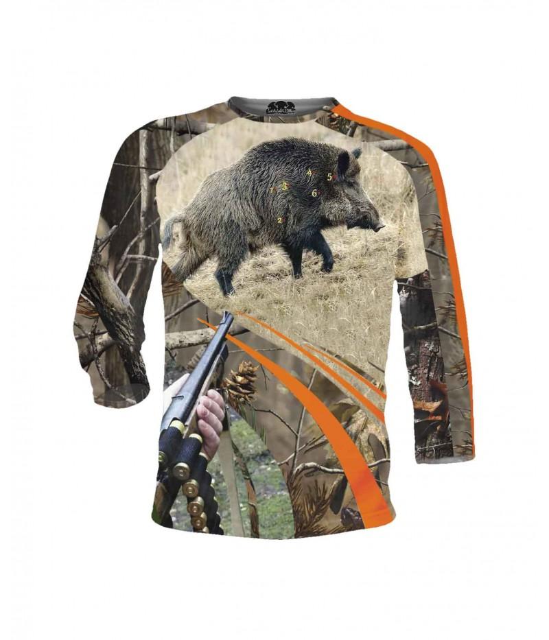 Страхотна ловна тениска - глиган на прицел - дълги ръкави