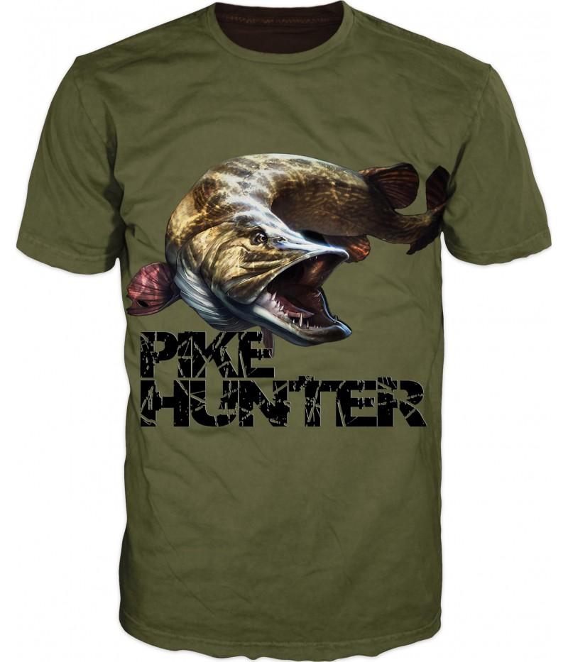 Мъжка тениска -риболов на щука