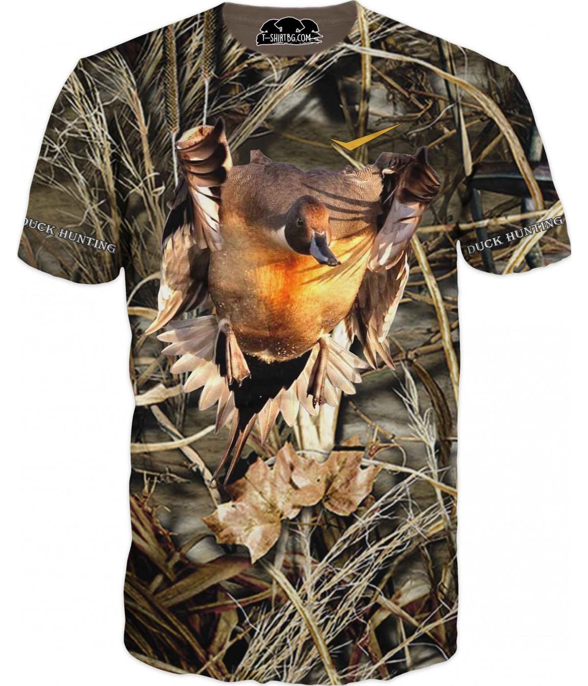 Ловна тениска с патица в тръстика