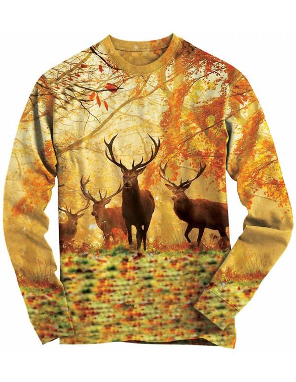 Ловна блуза с елени в гората