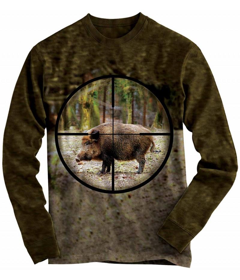 Ловна блуза с диво прасе в мерник