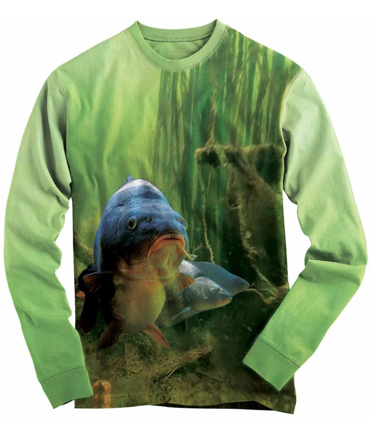 Риболовна блуза с шаран