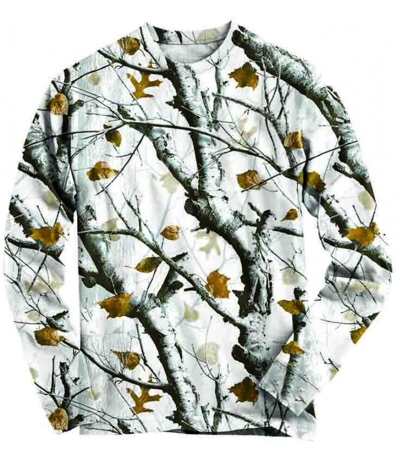 Ловна блуза снежен камуфлаж
