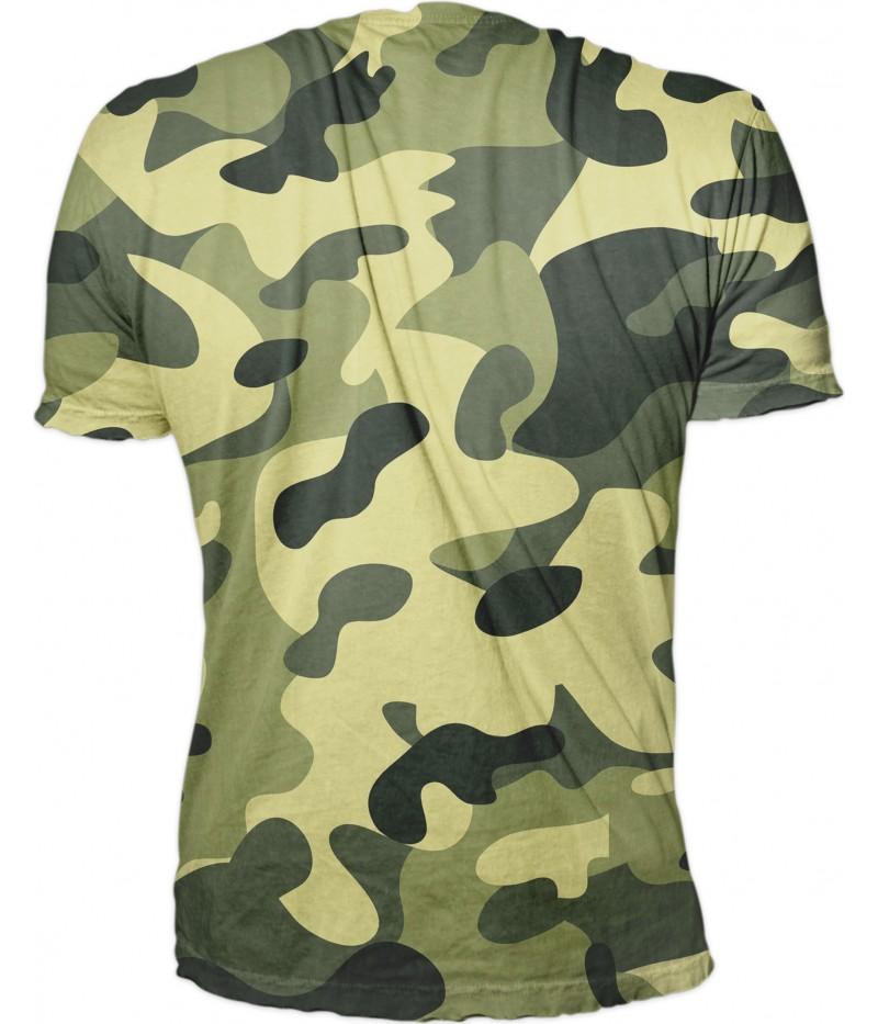Ловна тениска с камуфлаж-MILITARY