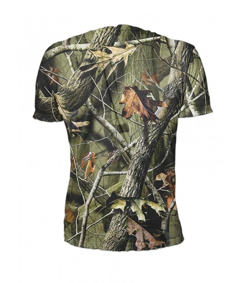 Ловна тениска с мечка и камуфлаж