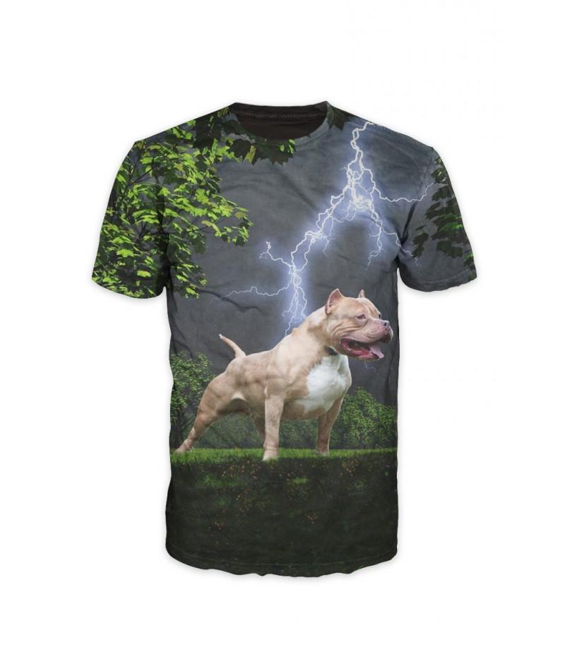 Тениска с куче ПитБул