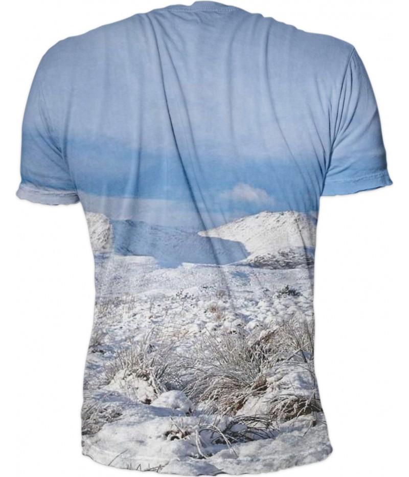 Ловна тениска с елен и сняг