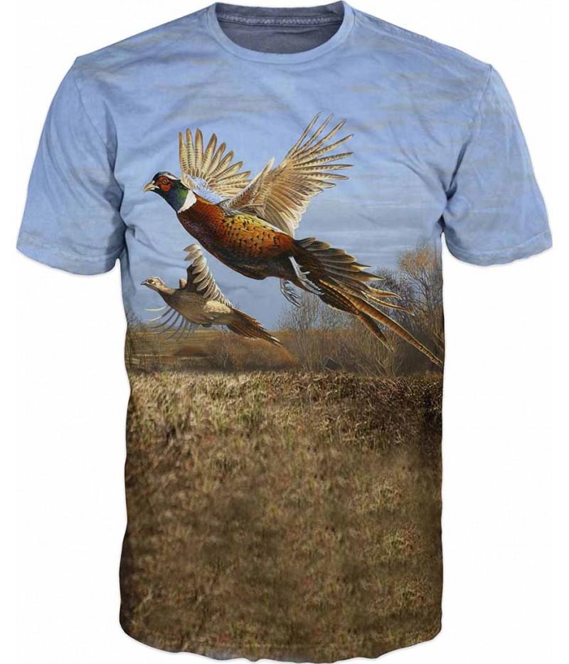 Ловна тениска с фазани