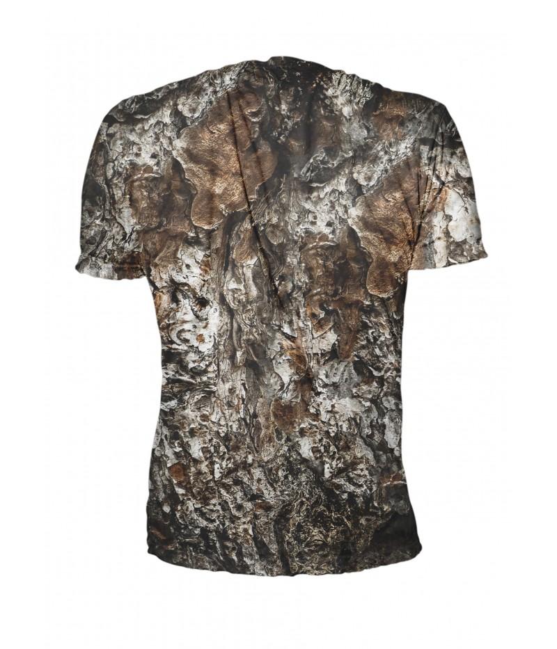 Ловна тениска с бухал и камуфлаж