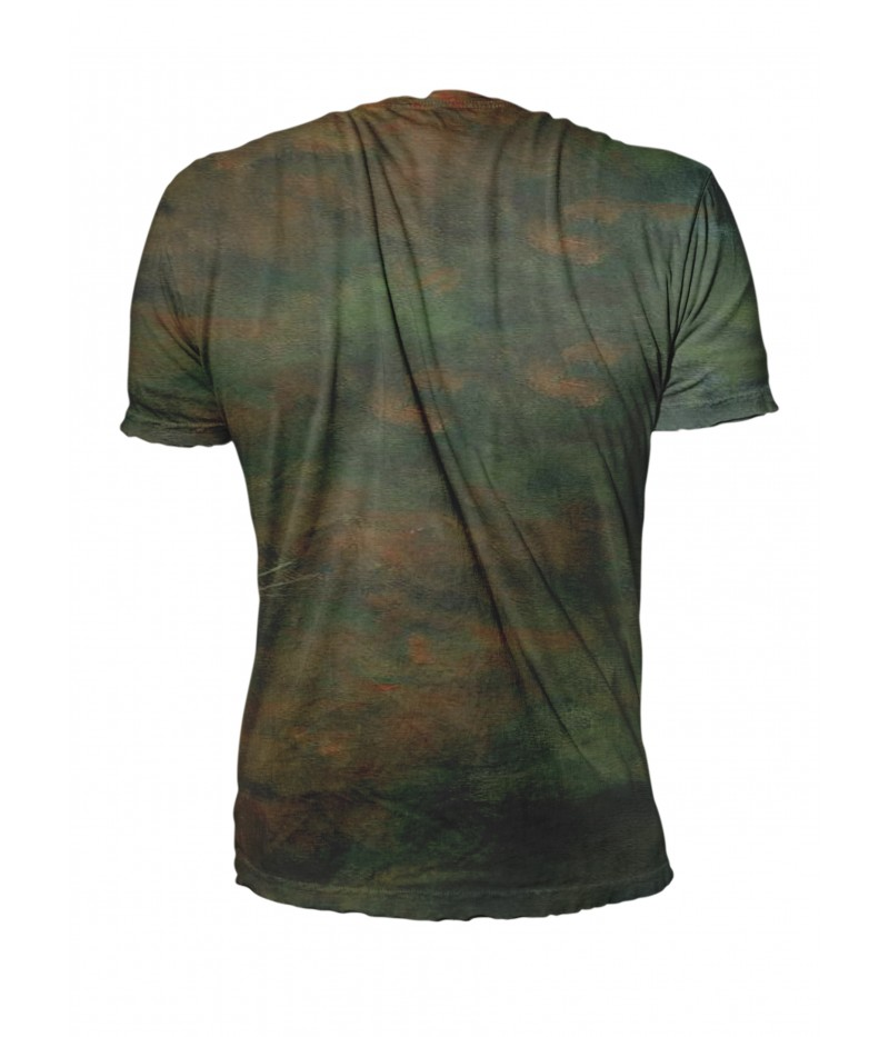 Ловна тениска с елен рисуван