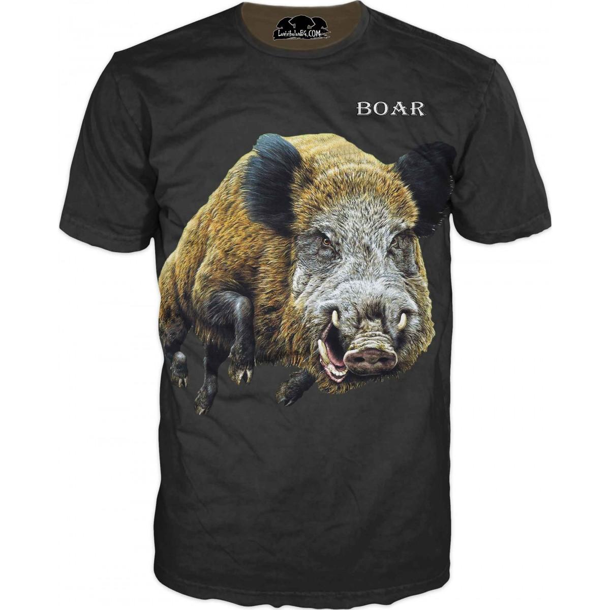 Тениска с глиган - черна