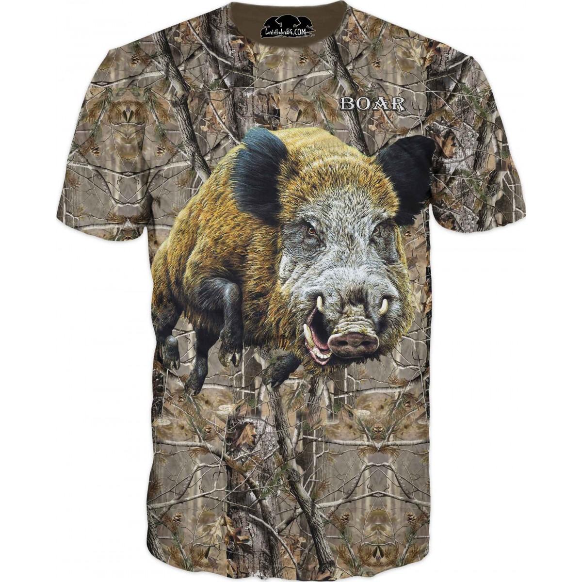 Тениска с глиган - в камуфлаж