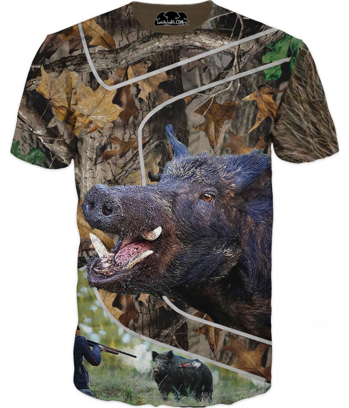 Ловна тениска с диво прасе