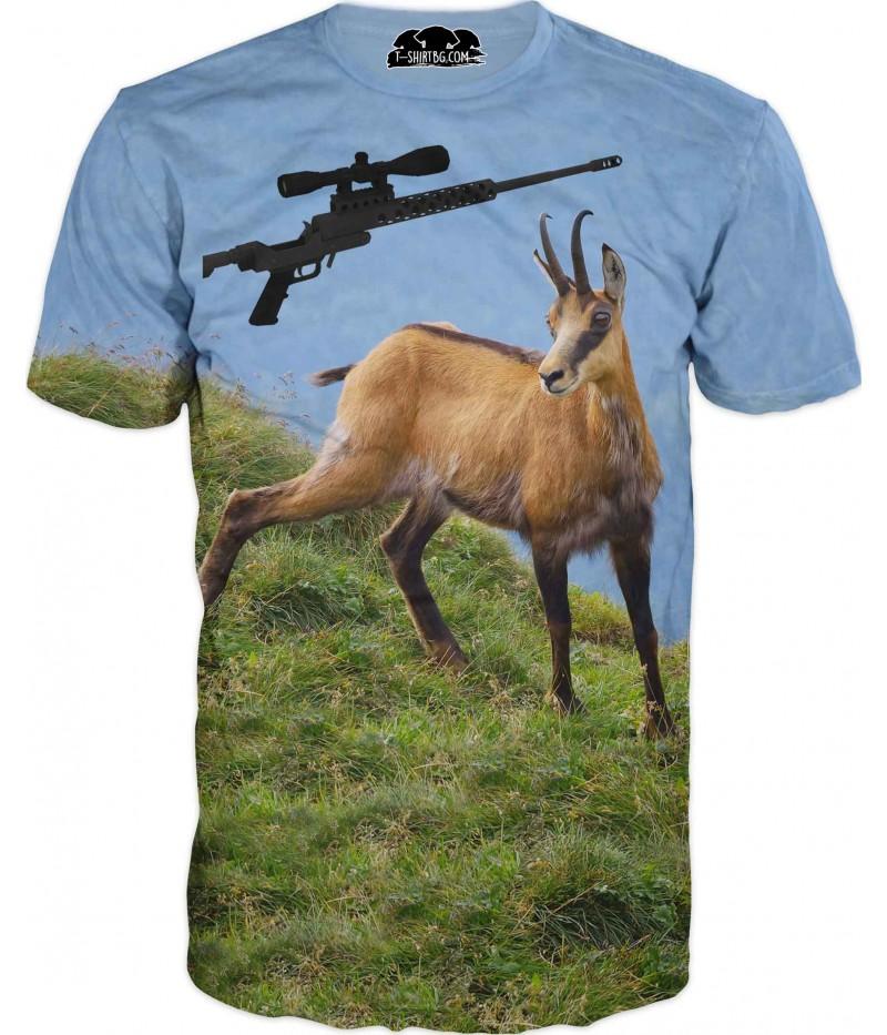 Ловна тениска с дива коза