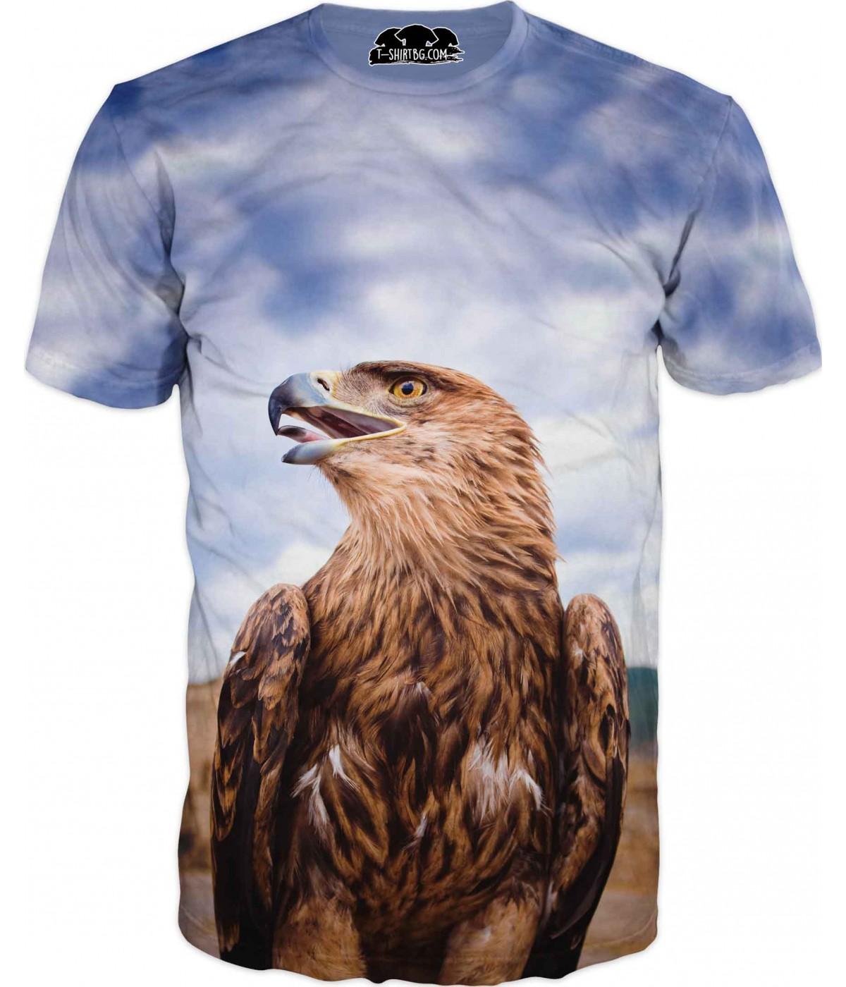 Ловна тениска с голям орел