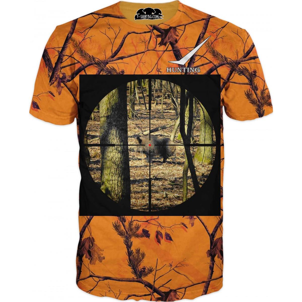 Ловна тениска - прасе в мерник