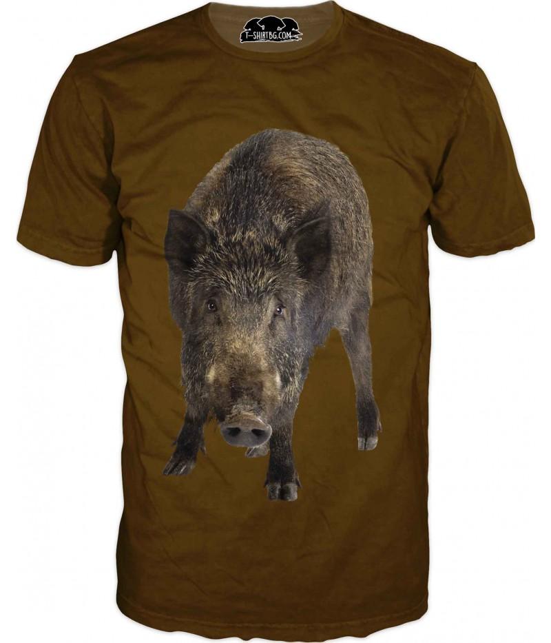 Ловна тениска за фенове - прасе