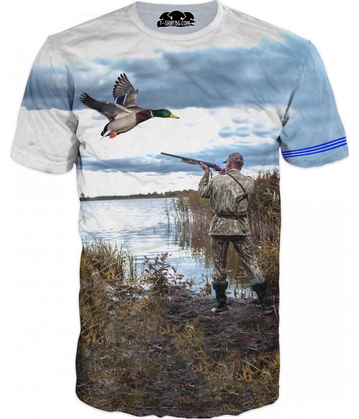 Ловна тениска - ловец с патица