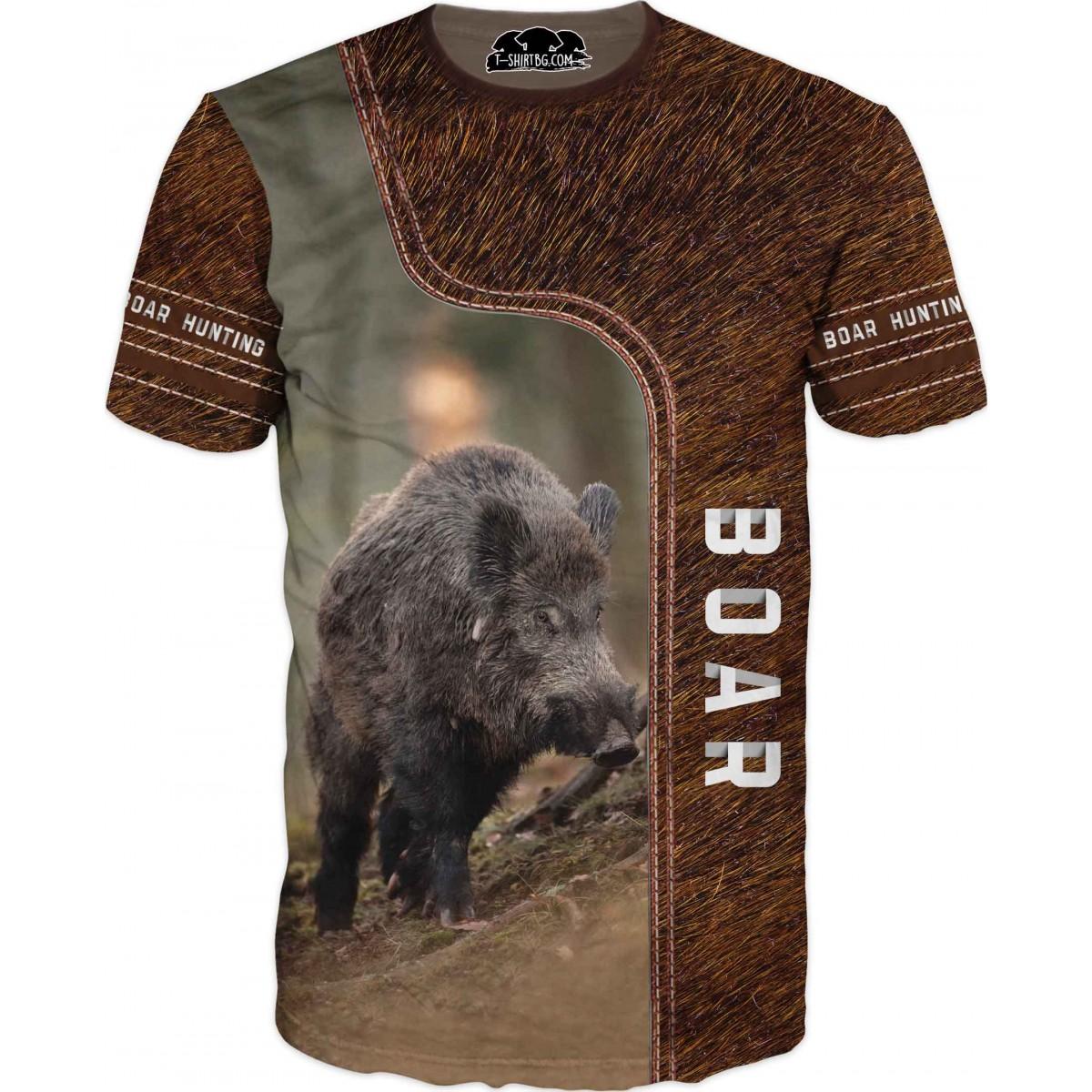 Ловна тениска с козина на глиган - в гора
