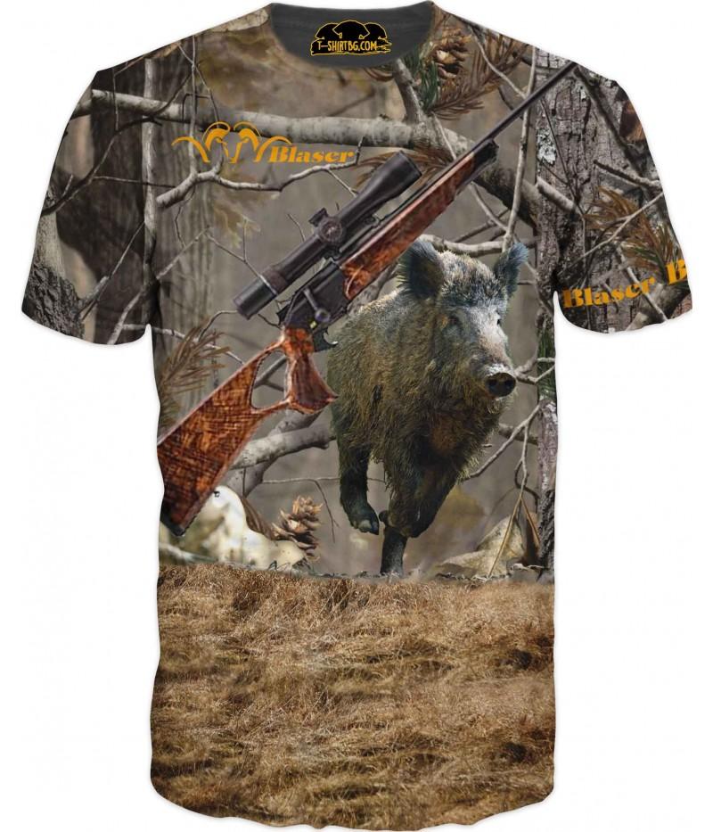 Ловна тениска с глиган и пушка Блейзер