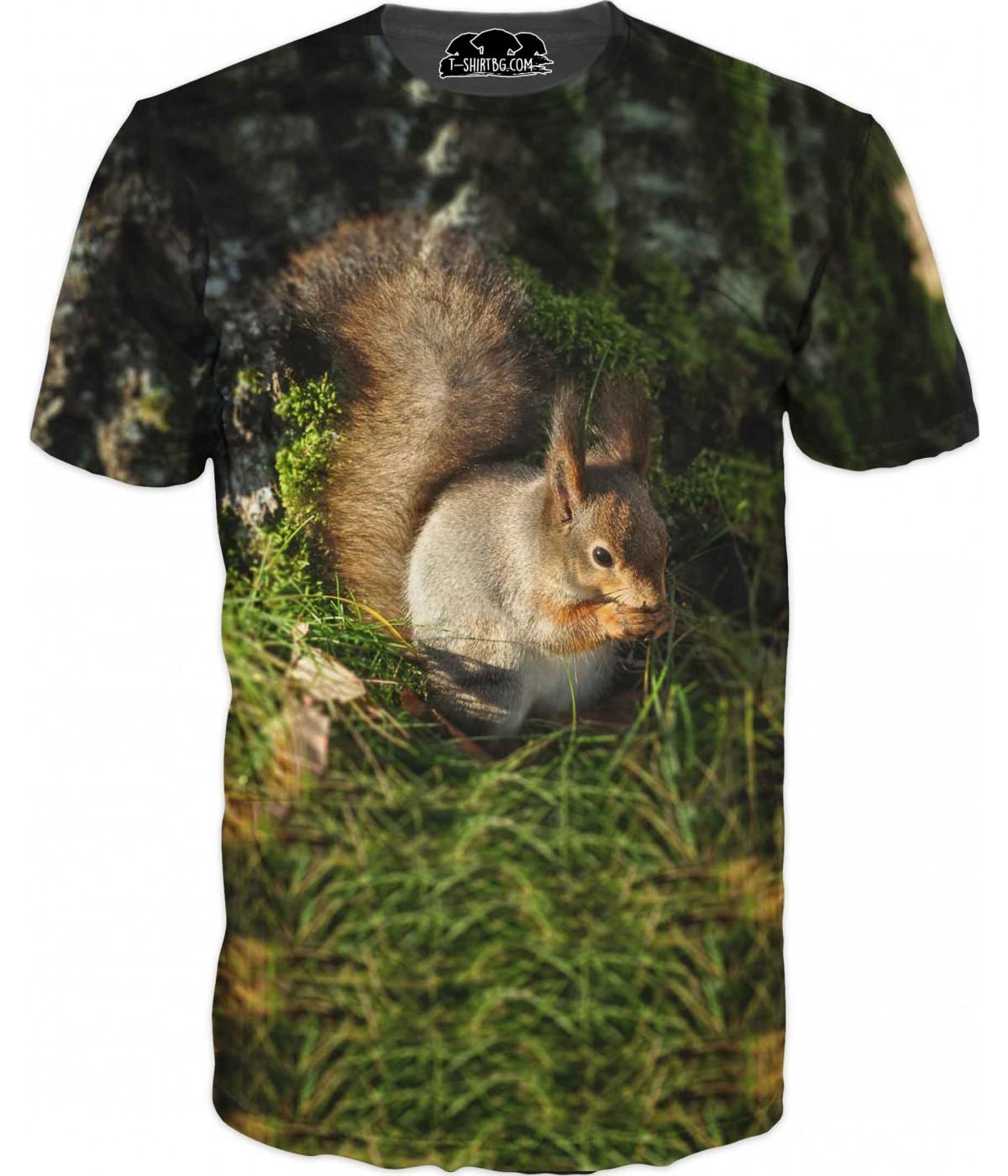 Ловна тениска с катерица