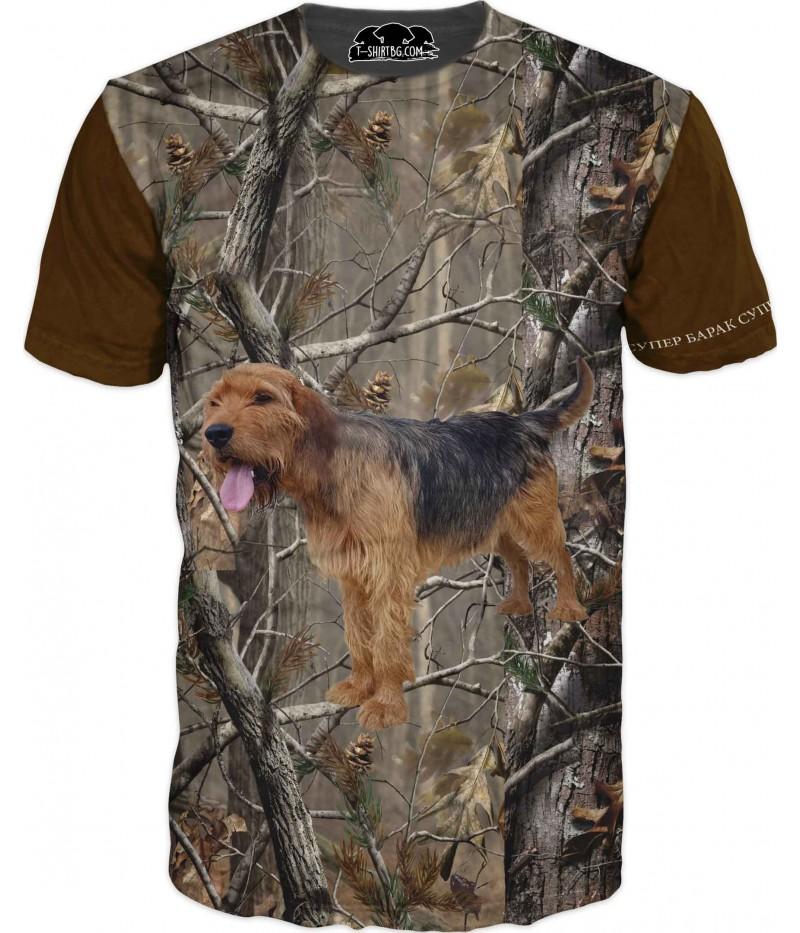 Ловна тениска с куче барак