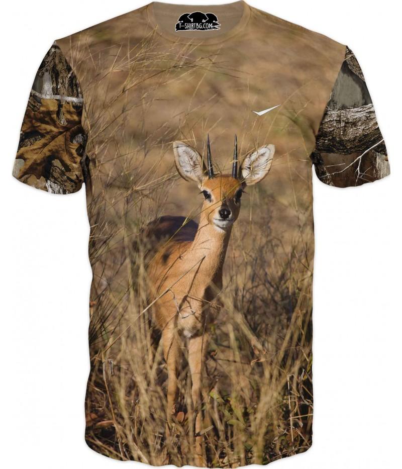 Ловна тениска с антилопа