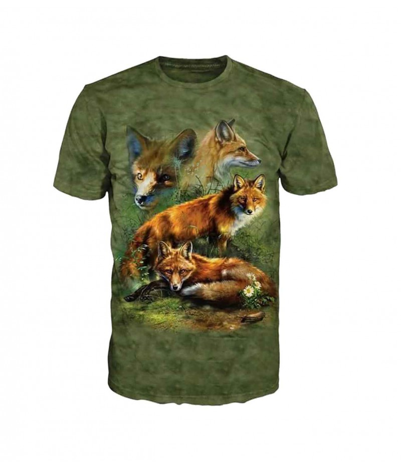Ловна тениска с лисици