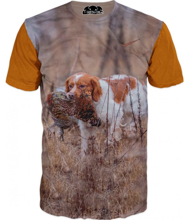 Ловна тениска с куче и плячка