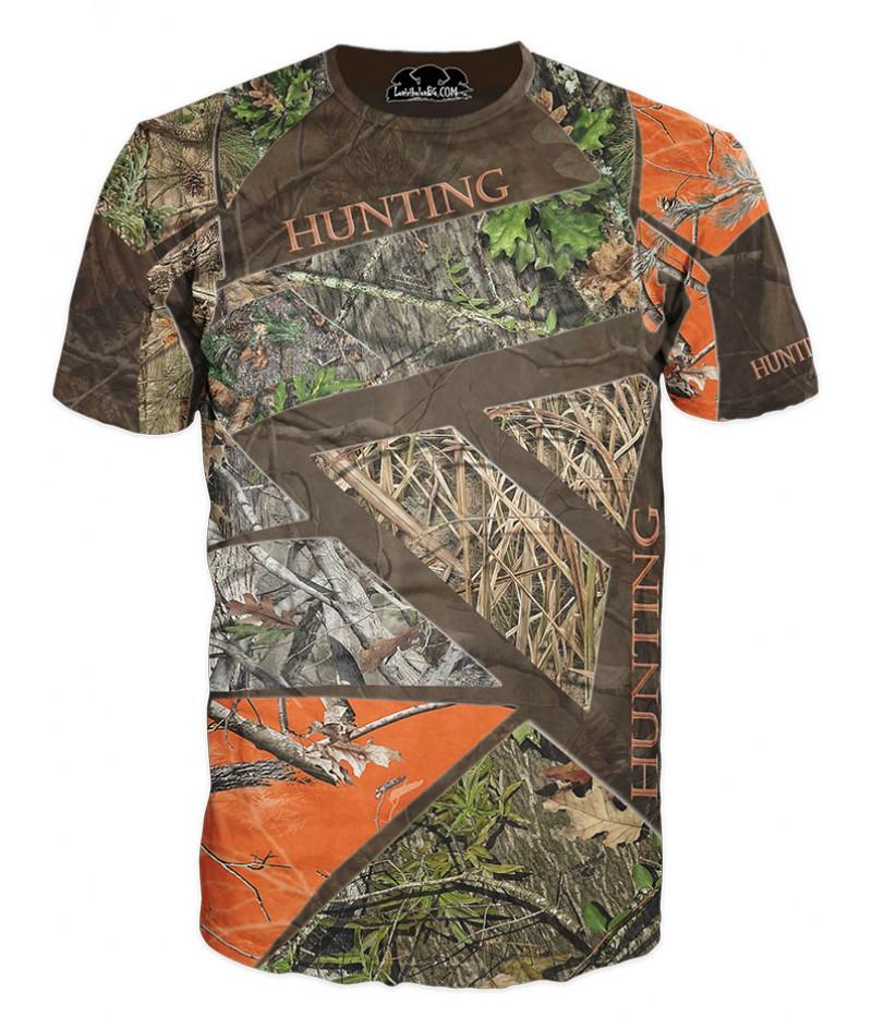Ловна тениска с камуфлажи