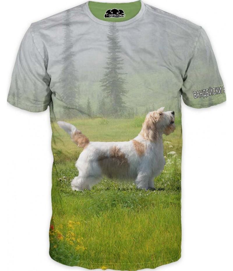 Ловна тениска с Вандейски басет грифон