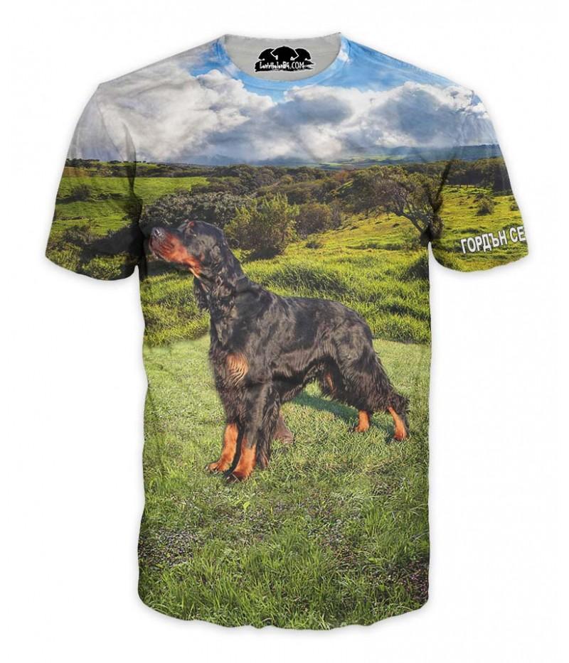 Ловна тениска с Гордън сетер