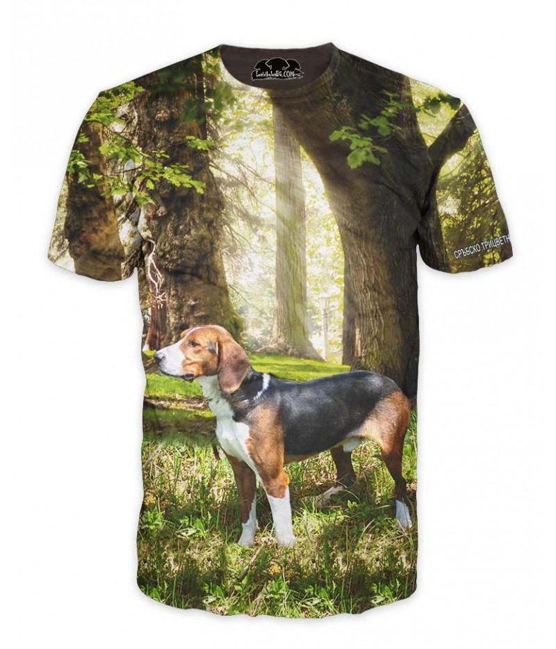 Ловна тениска със сръбско трицветно гонче