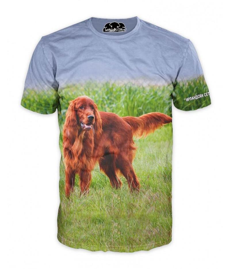 Ловна тениска Ирландски червен сетер