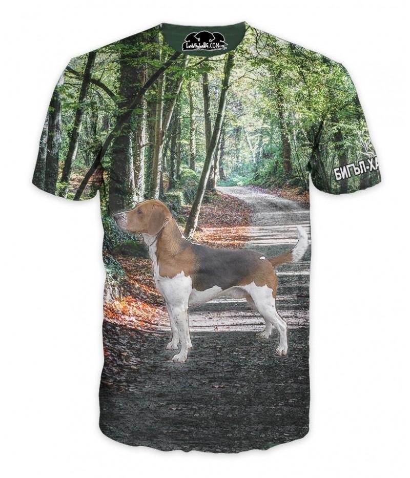 Ловна тениска с Бигъл-хариер
