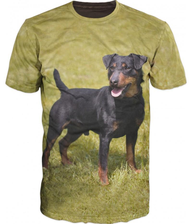 Ловна тениска с куче - ягдтериер