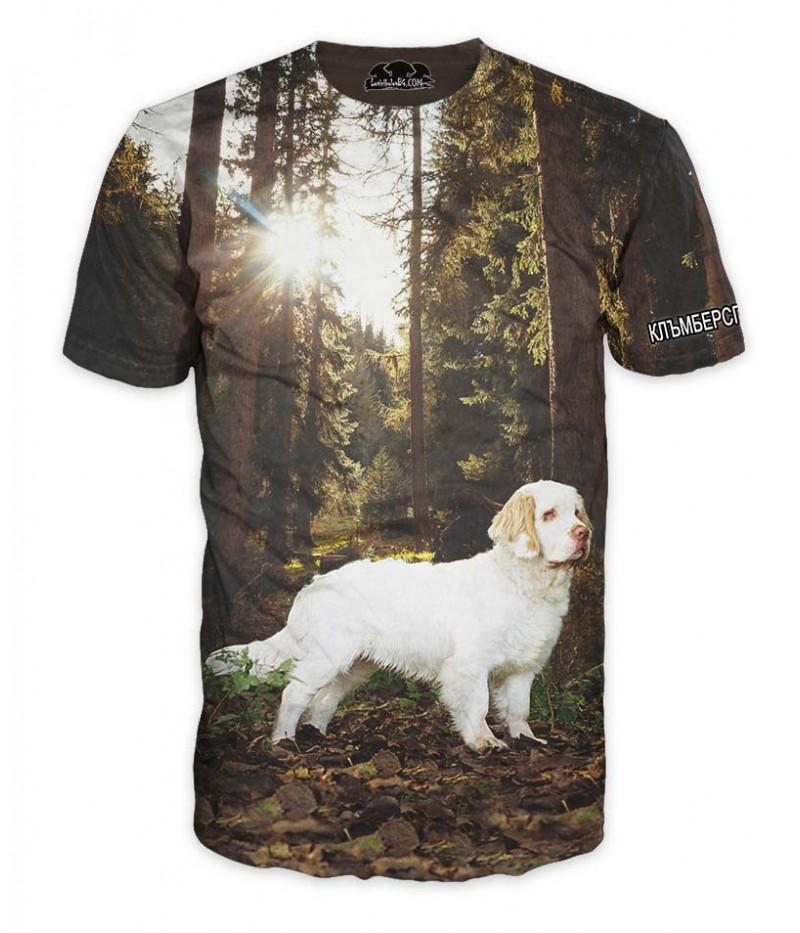 Ловна тениска с Клъмберспаниел