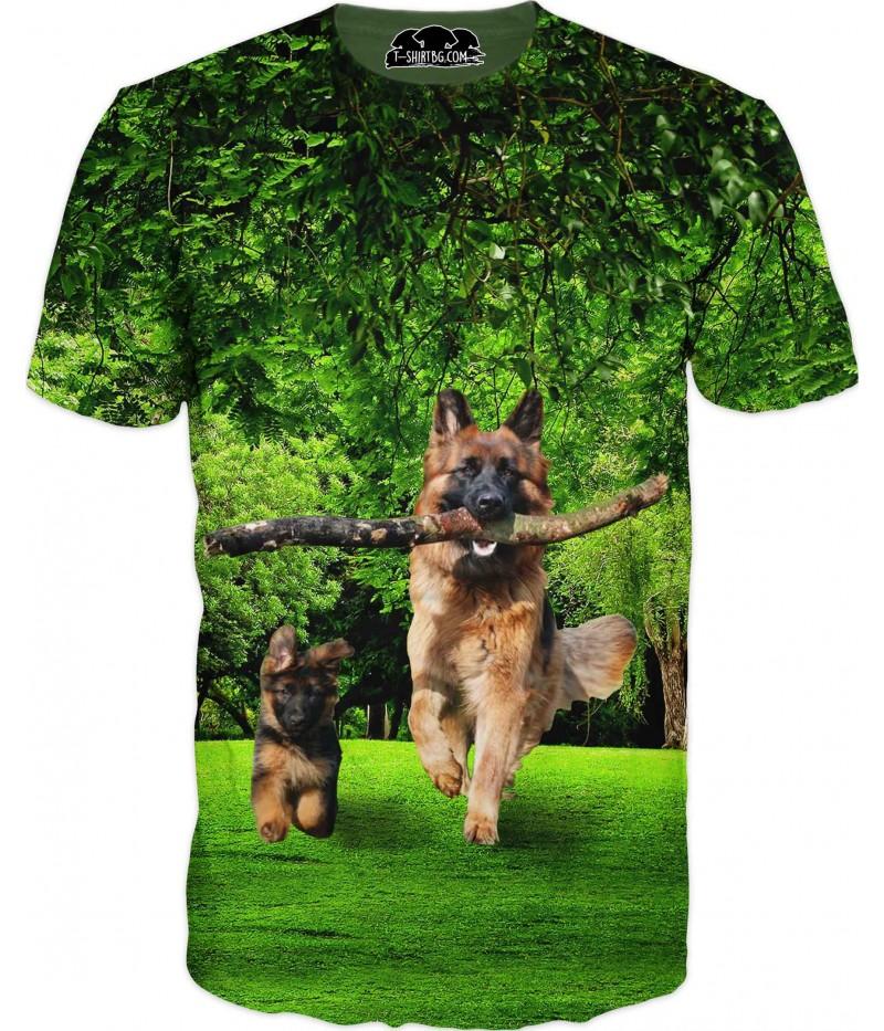 Тениска с немски овчарки