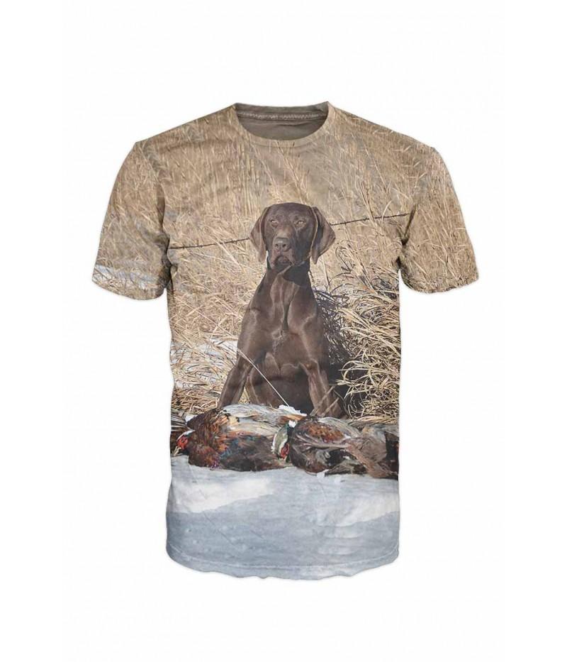 Ловна тениска с куче