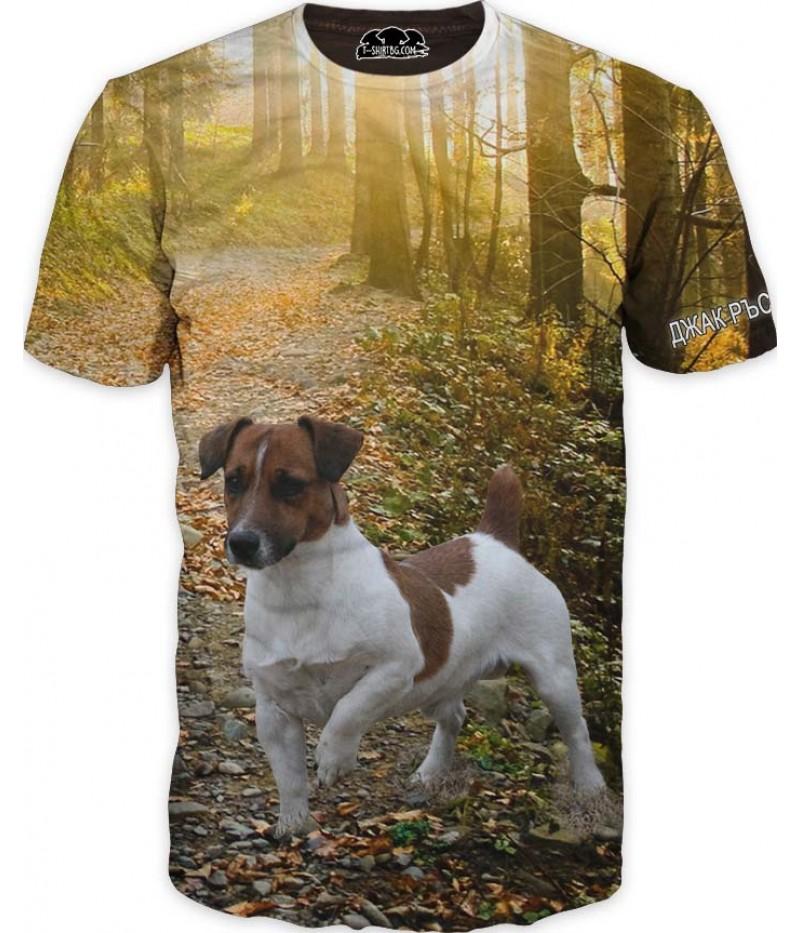 Ловна тениска с Джак Ръсел териер