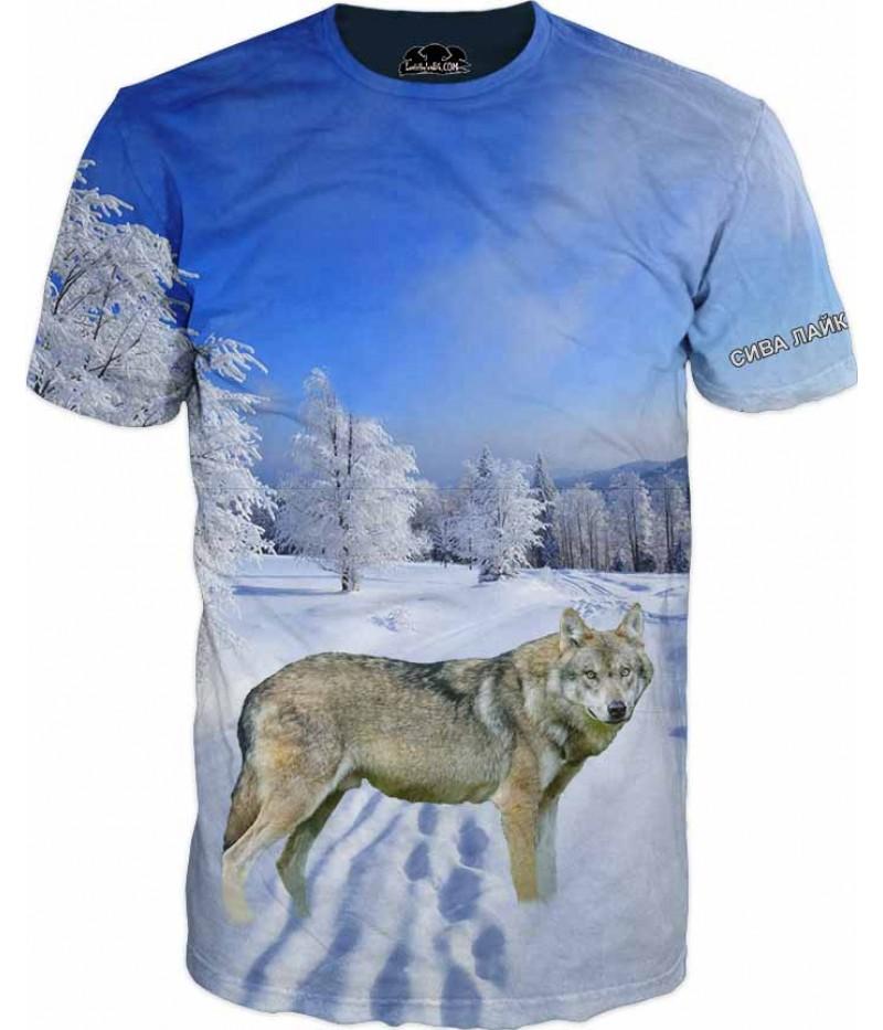 Ловна тениска със Сива лайка