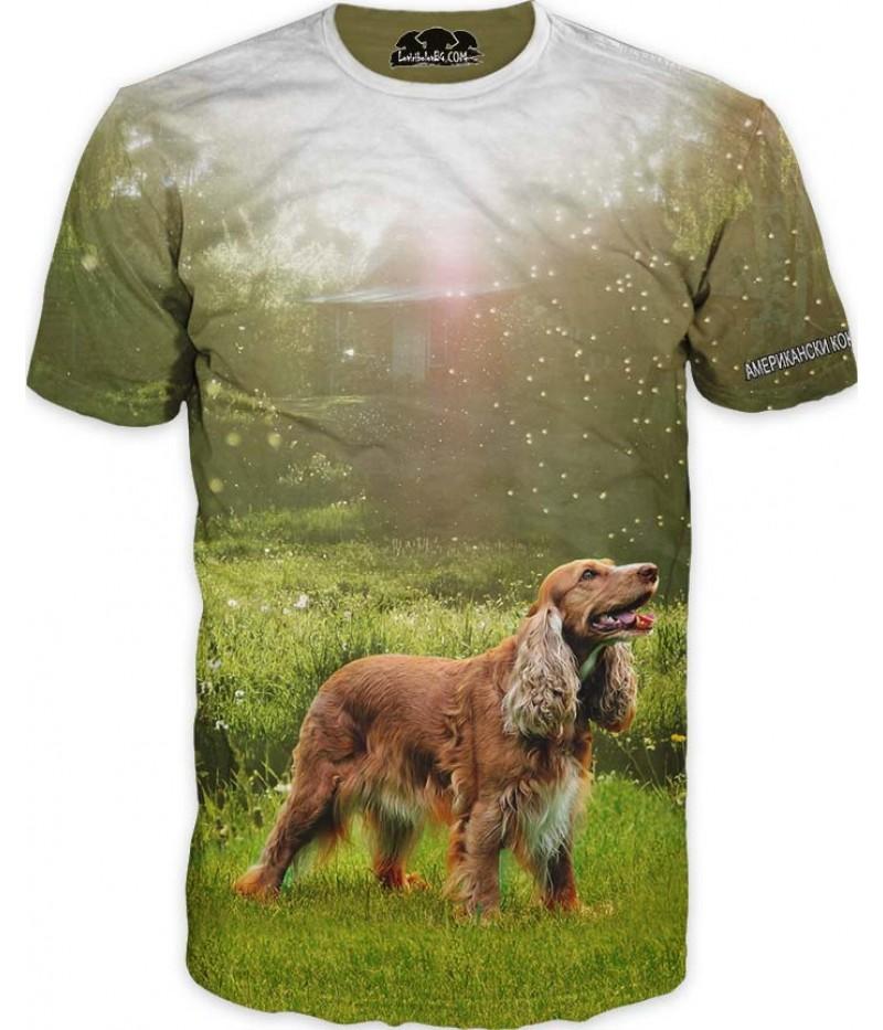 Ловна тениска с Американски кокер шпаньол