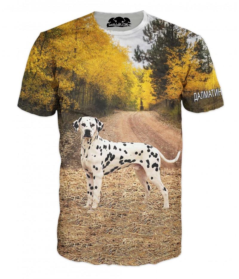 Ловна тениска с далматинец