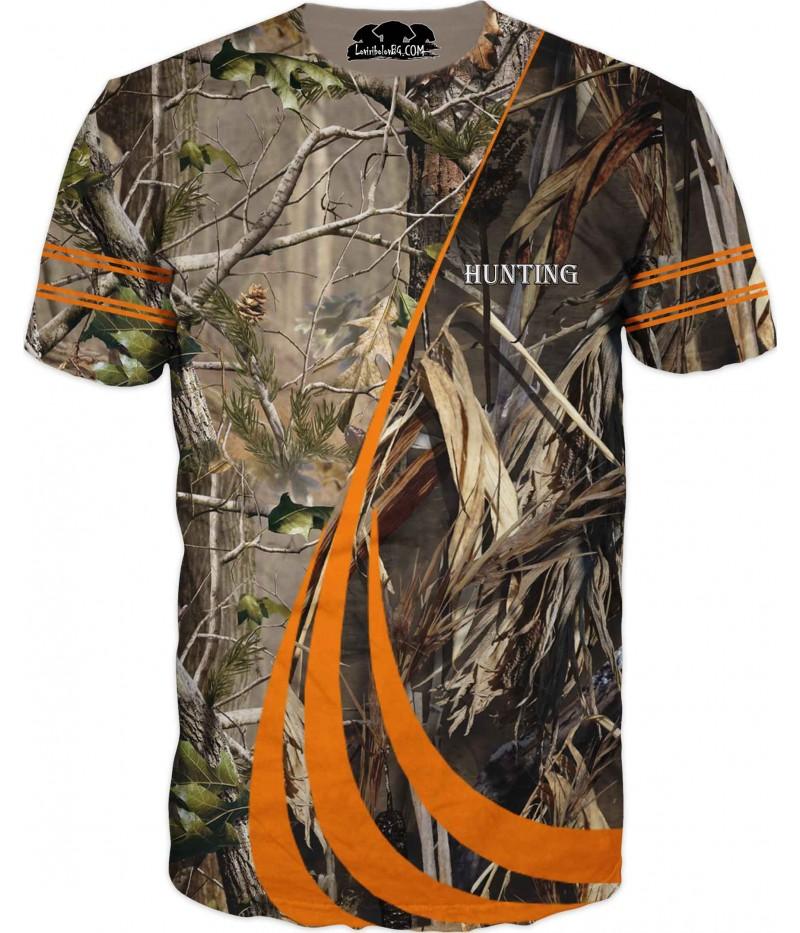 Камуфлажна тениска - тръстика и гора