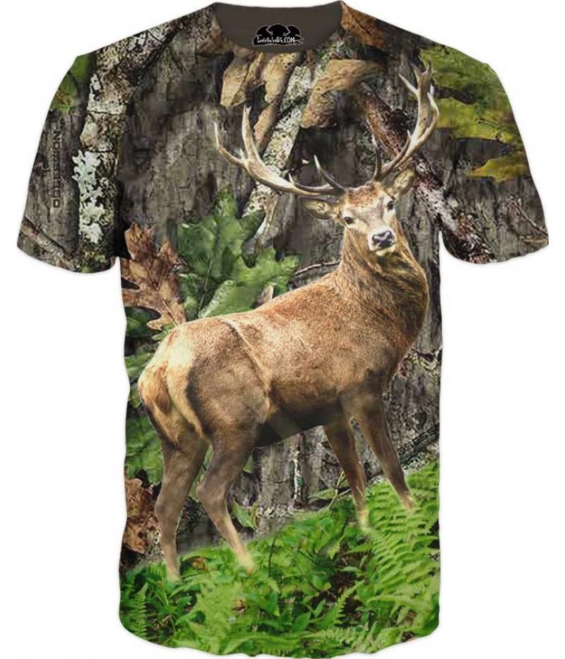 Мъжка тениска с камуфлаж и Елен